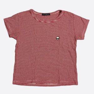Brandy Melville Striped T-Shirt Alien One Size Top